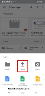 Cara Upload / Simpan File Ke Google Drive Melalui PC dan Android