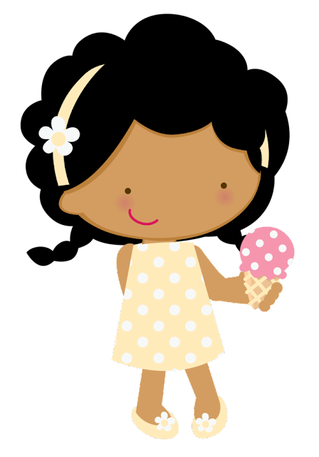 Free Clipart, Food Clipart, kids Clipart, People Clipart, Little Girl Eating Icecream Free Clipart