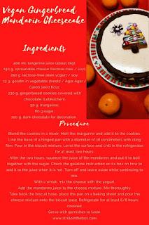 cheesecake mandarin gingerbread vegan