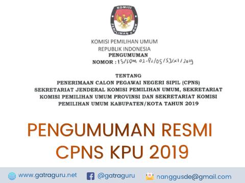 CPNS KPU 2019 : Formasi, Kreteria, dan Persyaratan
