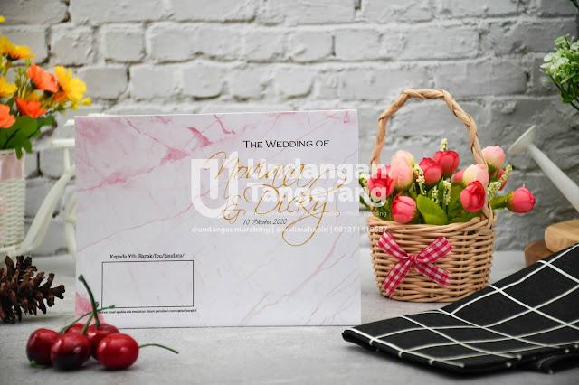 Undangan Amplop Murah Minimalis dengan Warna Pink - Walimahanid | 0812-1141-8687