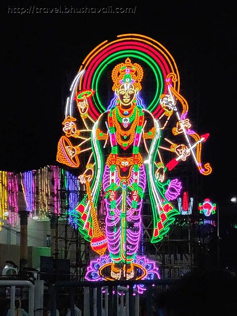 Serial bulbs decoration of Gods in Aadi month in Tamil Nadu