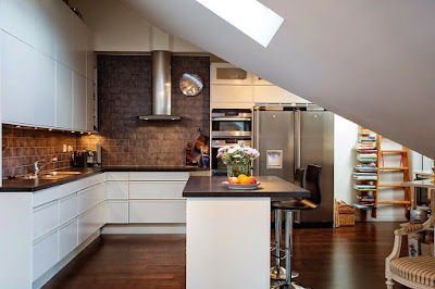 Splendid timeless kitchen ideas with black countertop and awesome black tiles kitchen backsplash
