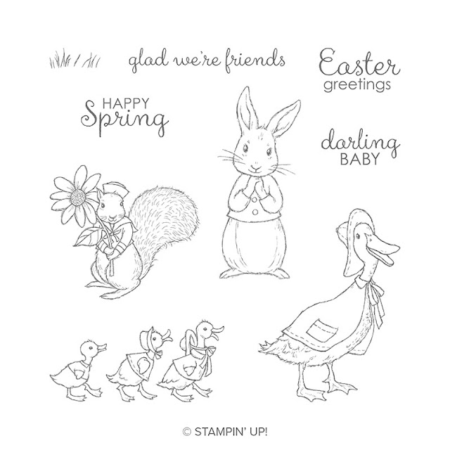 Fable Friends stamps set including rabbit image. Stampin Up