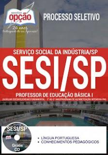 Apostila Professor SESI SP – Educação Básica PDF e Impressa