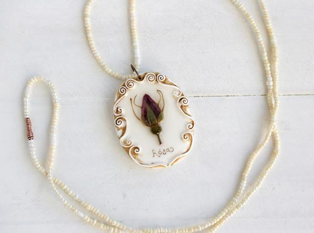 Grandma's Garden - Romantic Vintage Real Flower  Jewelry