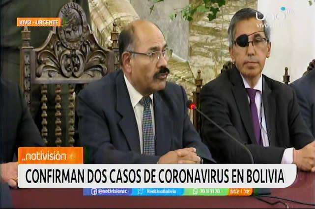 Informan de dos casos de coronavirus confirmados en Bolivia
