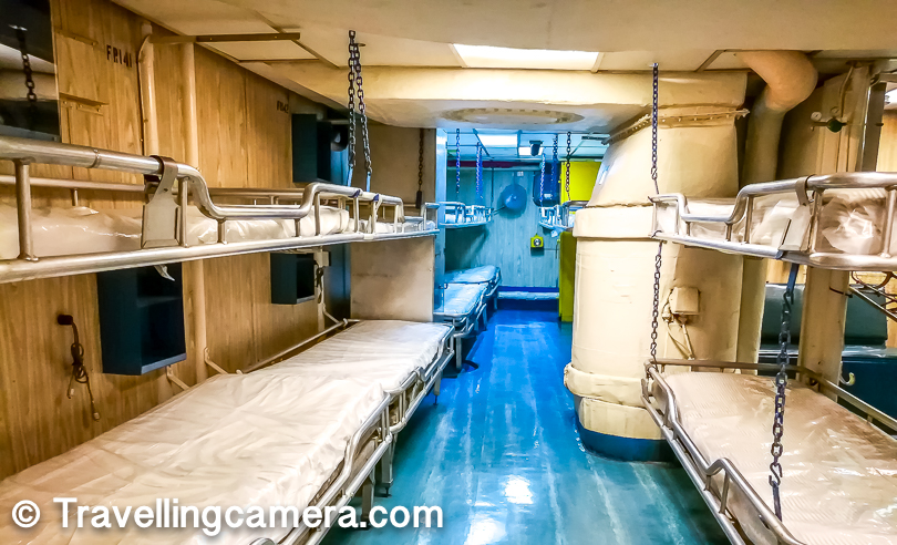 Above is the photograph showing the place where sick people on the ship take rest and get treatment. It's essentially hospital inside the ship which has doctor rooms close by.