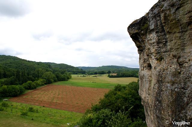 La vista sulla Valle del Vezere dalla Maison Forte de Reignac