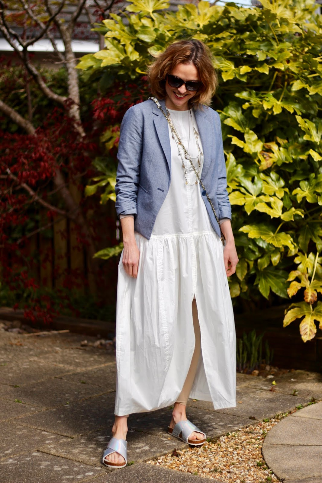 Lockdown Style | White Maxi Dress, Leggings & a Blazer | Fake Fabulous