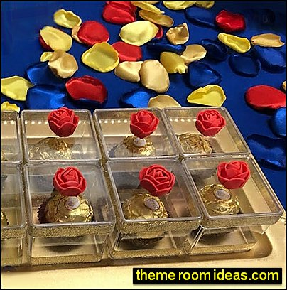 flower petals fabric petals snow white inspired table decorations