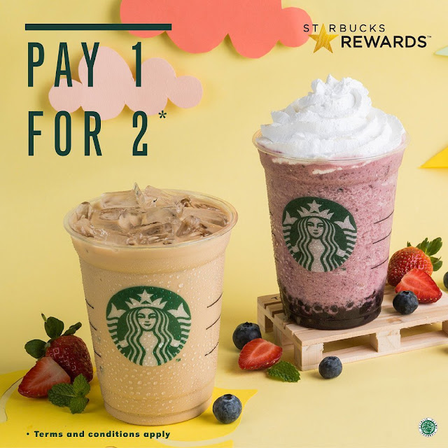 #Starbuck - #Promo Rewards Members PAY 1 FOR 2 (s.d 16 Juni 2019)