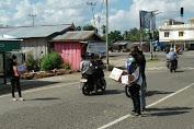 Bantu Biaya Berobat Abel, Sejumlah Komunitas Tebo Galang Dana di Jalan