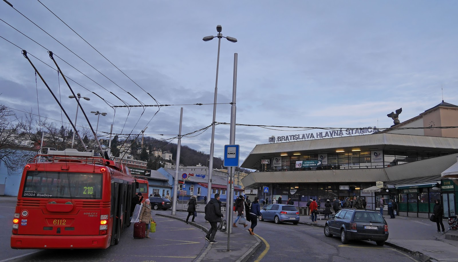 Bratislava central train station, Slovakia