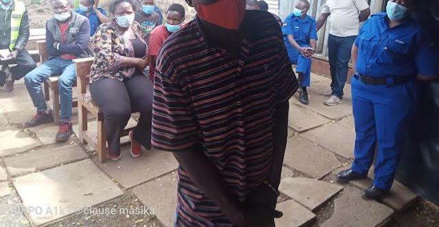 Richard Otieno, 28, photo at Kibear law court