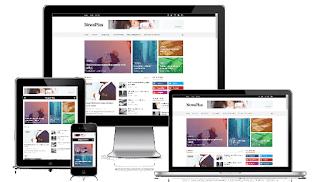 Newsplus Blog Magazine Blogger Template premium