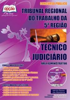 apostila TRT5 TÉCNICO JUDICIÁRIO 2016.