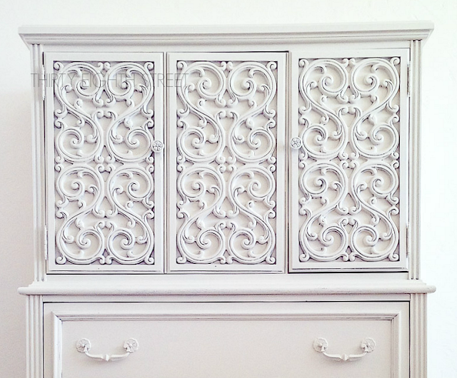 white painted armoire, white painted furniture, diy painted furniture, white milk paint, milk paint furniture