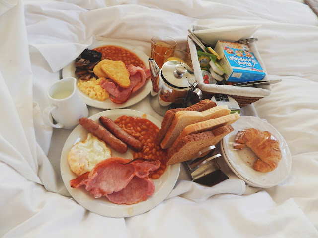 Breakfast in Bed at Lakes Lodge, Ambleside, Lake District