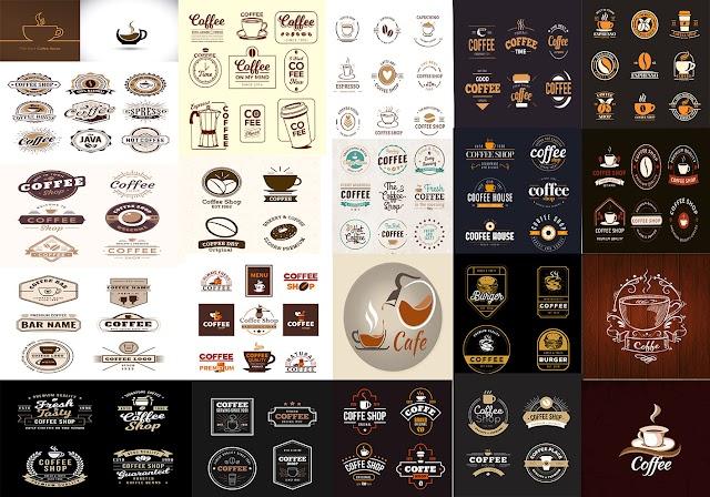 شعارات كافية جاهزة للتحميل والتعديل مجانا - cafe logo