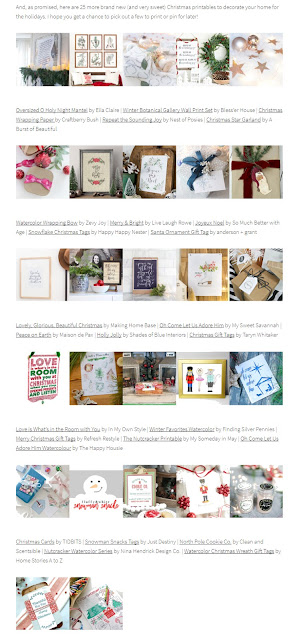 winter/holiday printables::blog hop::freebies