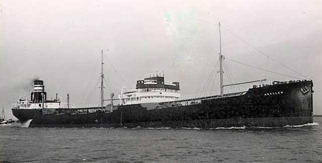 MV Adellen, 22 February 1942, worldwartwo.filminspector.com