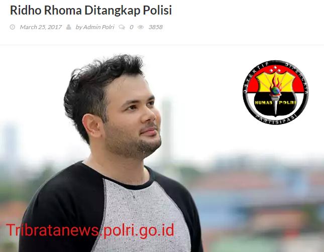 Simpan Sabu, Artis Dangdut RR Ditangkap Polisi