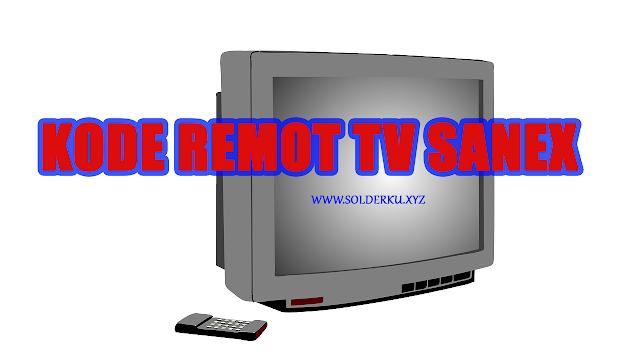 Kode Remot tv sanex