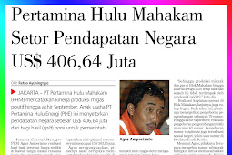 Pertamina Hulu Mahakam Deposits State Revenue of US $ 406.64 Million