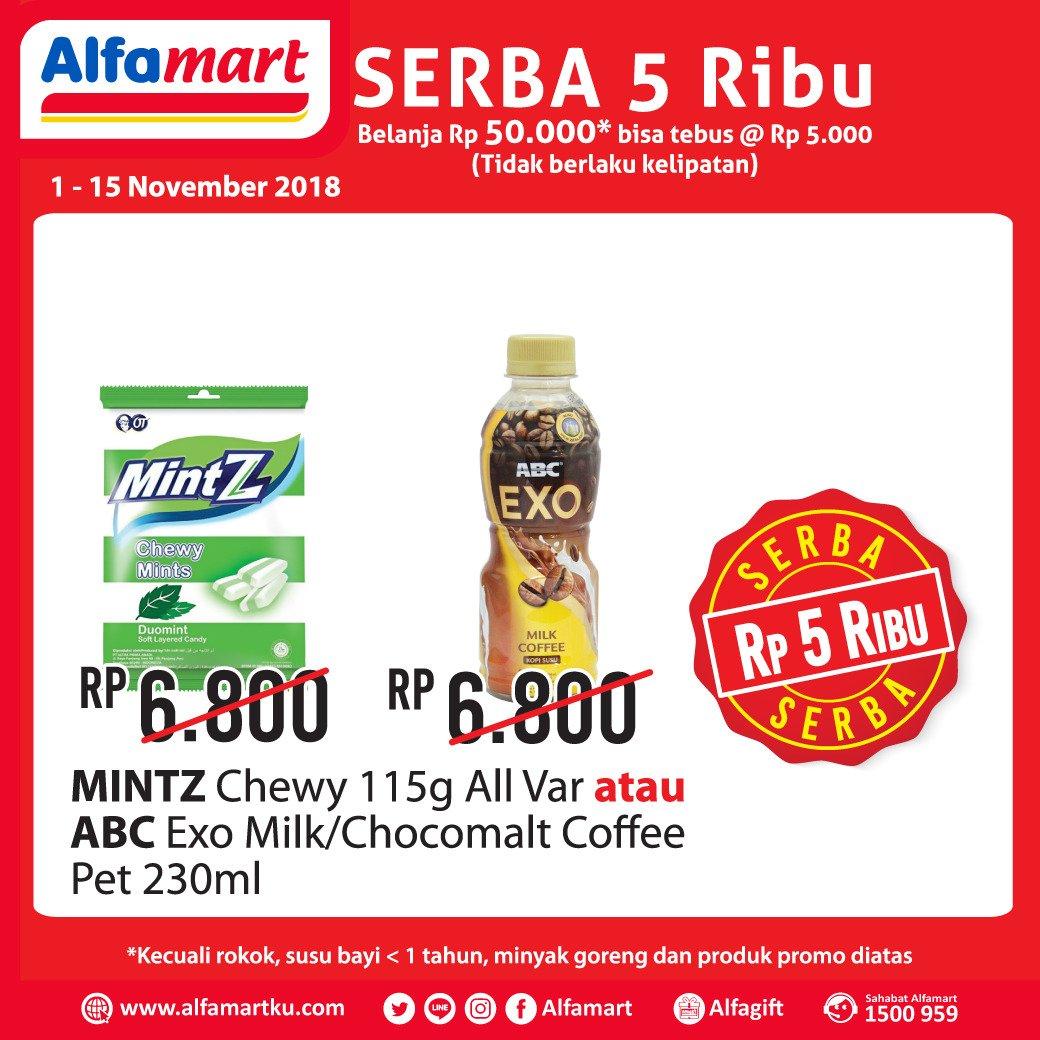 Alfamart - Promo Tebus Murah Serba 5 Ribu (s.d 15 Nov 2018)