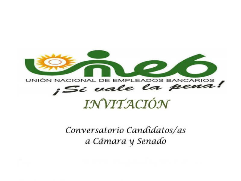 Invitación conversatorio candidatos/as cámara y senado