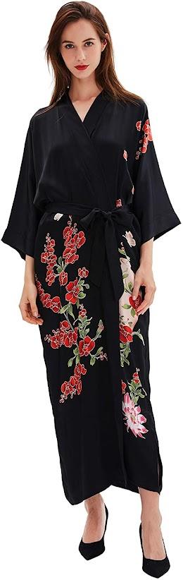 Women's Long Silk Robes