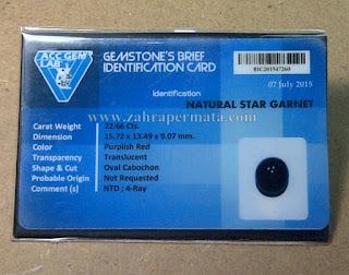 Batu Star Garnet