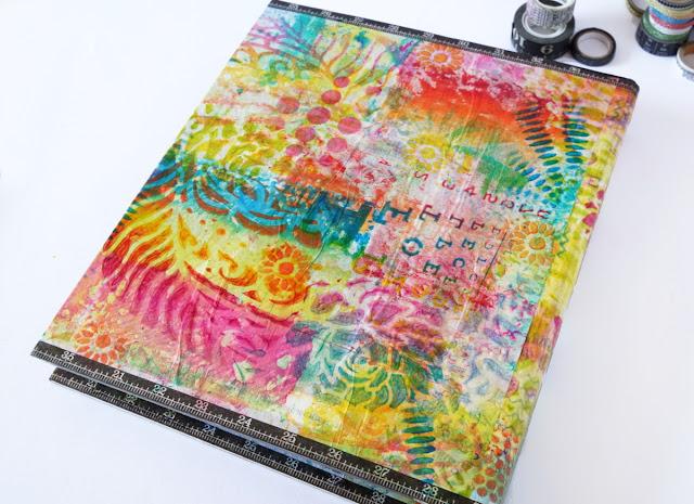 VideoTutorial: Gelprinted Binder Cover wtih GelliArts® parchment paper