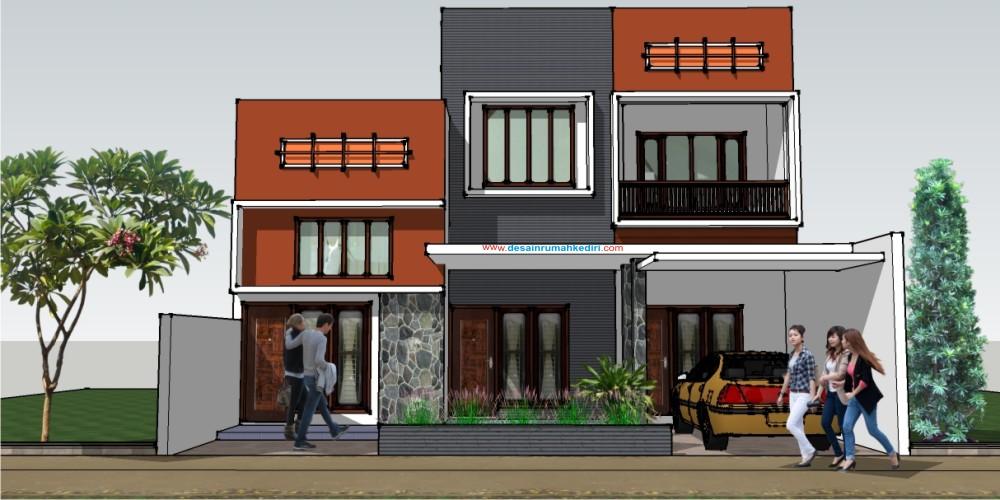 Rumah Minimalis 2 Lantai Void lt2 15 rumah minimalis 2 lantai bu mutiara surabaya jasa