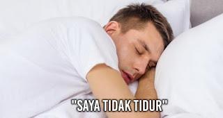 """Saat berkata """"Saya tidak tidur"""" adalah Kebohongan yang Sering Diucapkan pria kepada wanita"""