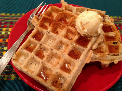 Vegan and Gluten-free French Vanilla Waffles from Welcoming Kitchen