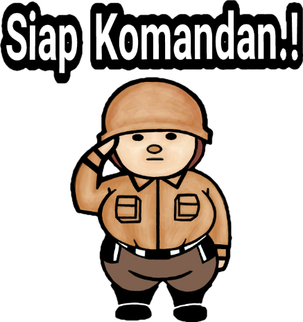 Sticker Siap Komandan