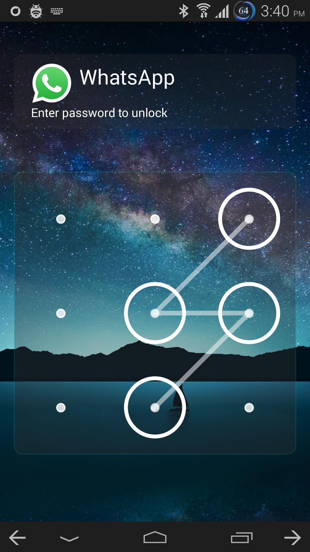 الخطوة الثالثة: قفل تطبيق واتساب بكلمة سر