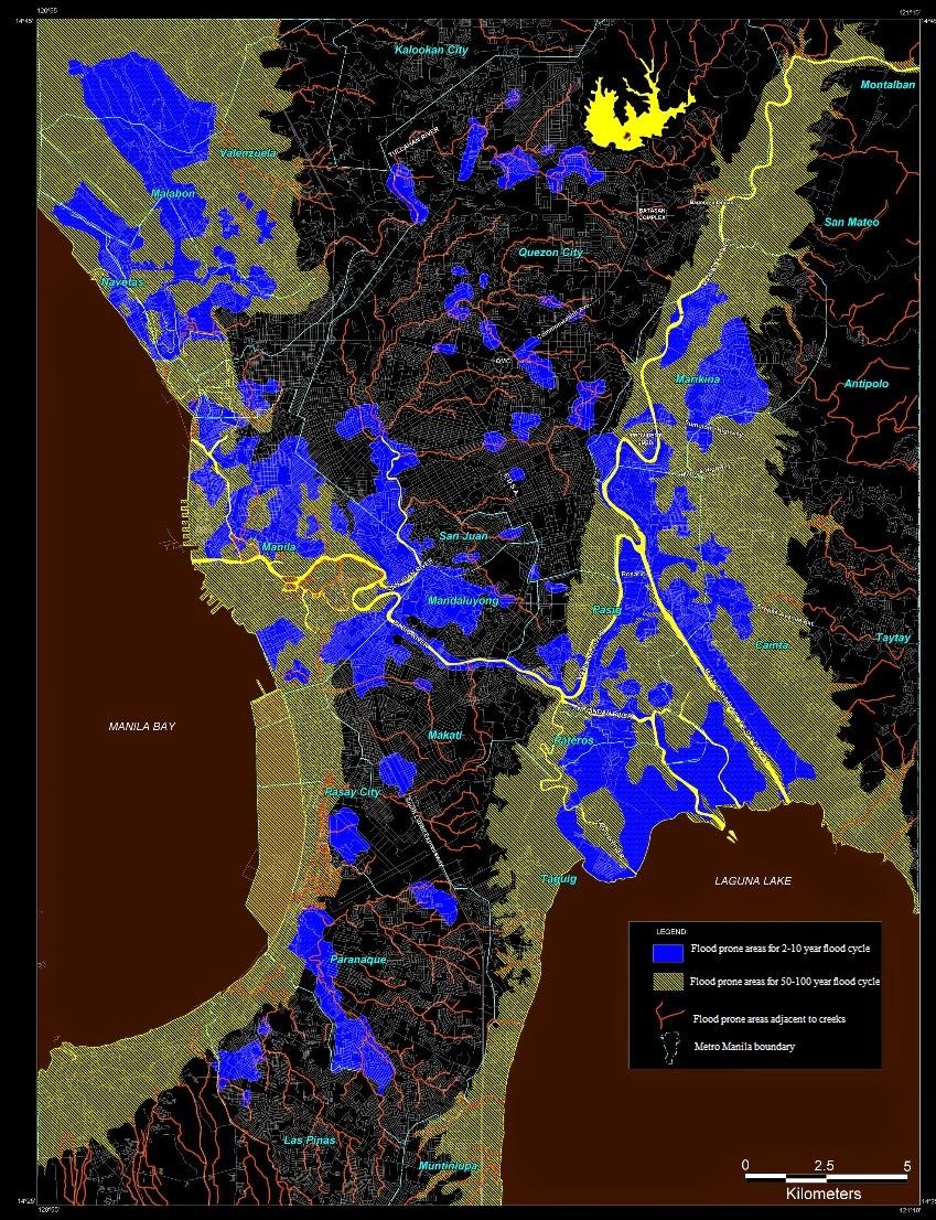Flood hazard map of Manila