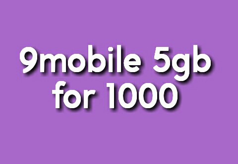 9mobile 5gb for 1000