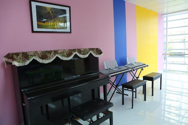 Phòng học piano và organ - Trường nhạc SMS quận 2 - Cơ sở 3