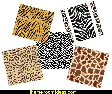 Animal Print Wall and Floor Stencils  wild animal print bedroom decor  - leopard print decorating ideas- giraffe print - zebra print - cheetah bedroom decor - wild animal print decorating  - leopard print decor - leopard print walls -  tiger wall decal