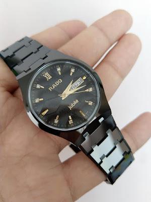 đồng hồ đeo tay nam dây đá ceramic