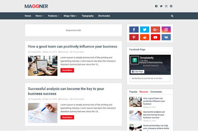 New Maggner adalah template blogger profesional, bagus untuk tutorial blogging, blog berita dan ceruk khusus lainnya