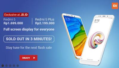 Harga Xiaomi Redmi 5 Plus di JD.ID Rp. 2.199.000