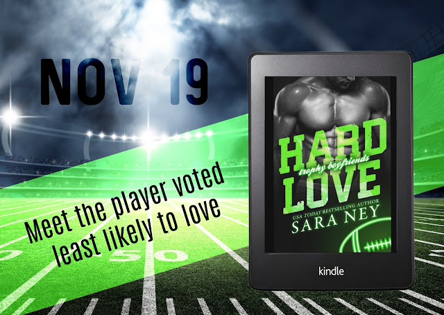 Cover Reveal:  Hard Love (Trophy Boyfriends #3) by Sara Ney