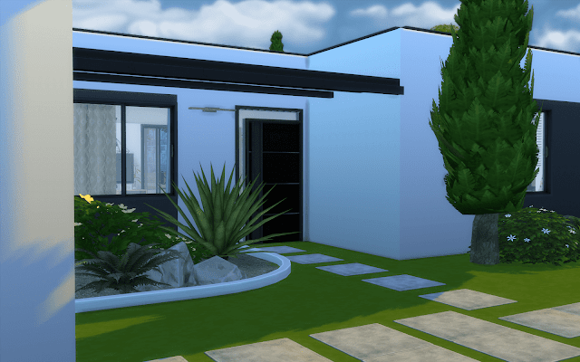 maison contemporaine sims 4