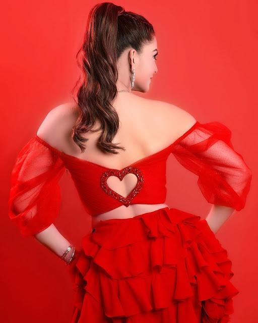 Urvashi Ratuela Red Dress