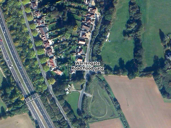 Map of affected area on Warrengate Road Created on Map Hub by North Mymms News - elements © Thunderforest © OpenStreetMap